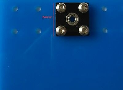 4 Pcs KFL04 4mm inner ID bore square Mounted Housing with MF84ZZ Flanged Bearing 4