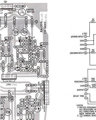 SERVICE MANUAL FOR Hammond X-5 Combo Organ: Schematics ... on