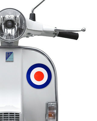 Mod Target Roundel Sticker Fits Vespa Leg Shield 135mm Scooter Retro Decal MS25