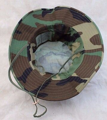... New Genuine Us Issue Boonie Hat Jungle Woodland Camo Type-Iii Ripstop -  Usa Made 8af5a4038022