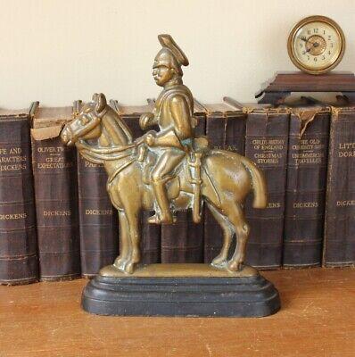 Vintage Soldier & Horse Door Stop Porter. Antique Brass Doorstop Figure Ornament 8