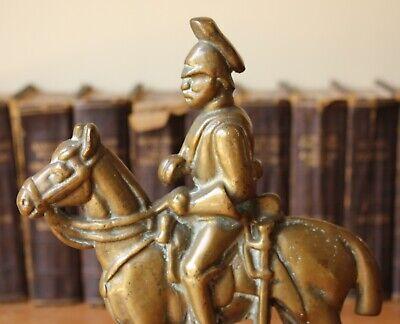 Vintage Soldier & Horse Door Stop Porter. Antique Brass Doorstop Figure Ornament 5