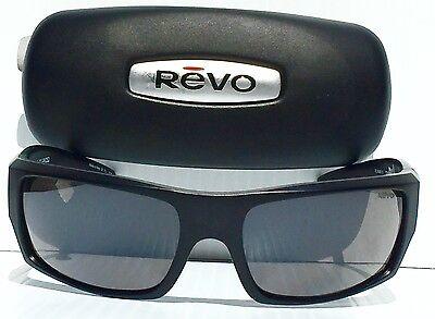5415be08c2 ... NEW  REVO CANYON Matte Black w GREY POLARIZED Lens Sunglass RE5008x 01 3