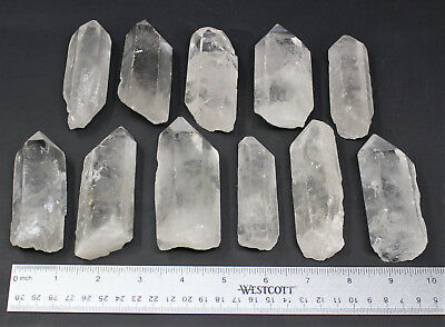 "Clear Quartz Crystal Point (3"" - 4"") Natural Wand Specimen, Reiki Healing 6"