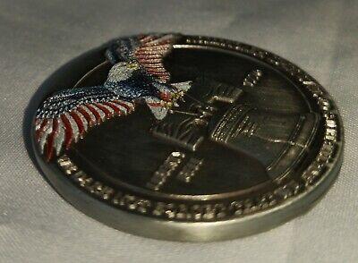 LIBERTY Bell Silver Coin Eagle Anchor Snake 3D Antique Americana Pennsylvania US 8