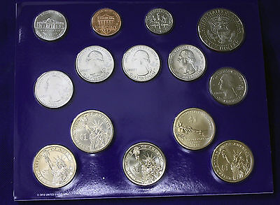 """2011 U.S. Mint Set. Complete and Original. 28 coins 14 each from """"P"""" and """"D"""" 3"""
