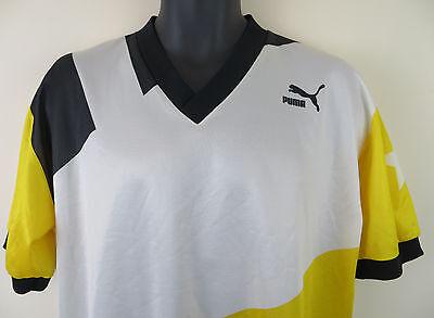 64a327b8f ... Puma Vtg 90s Retro Football Shirt Yellow Soccer Jersey Skjorte Camisa  Trikot XL 4