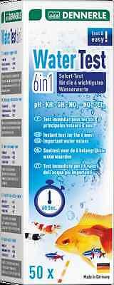 Dennerle 6in1 Aquarium Water Test Strips Set Kit pH KH GH NO2 NO3 Cl 50 Tests 2