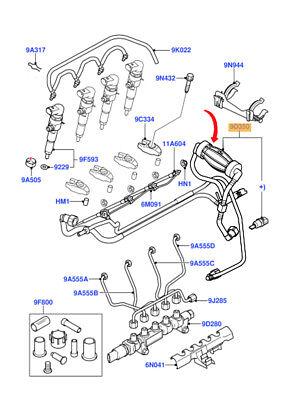 VAUXHALL ASTRA 2005-2009 MK5 DIESEL Tratteggio in plastica carburante Bocchettone Di Riempimento Tubo 13118437