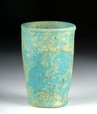 Egyptian Faience Offering Cup w/ Cartouche of Ramses II Lot 2A