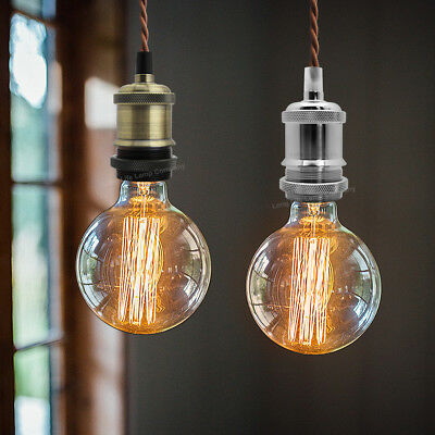 Ceiling Rose Fabric Flex Hanging Pendant Lamp Holder Light Fitting Lighting Kit 10