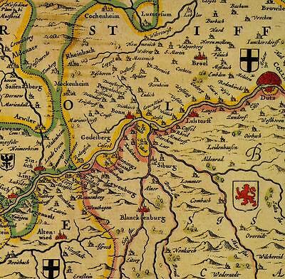 Alte Landkarte Kön Bonn Koblenz Antiquitäten & Kunst
