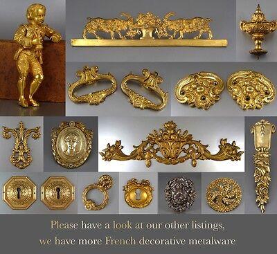 """VintageFrench Porcelain and Brass Door Lever Handle, Stamped """"J.M. Limoges"""""""