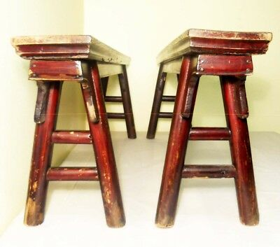 Antique Chinese Ming Bench (Pair)(2855), Circa 1800-1849 10