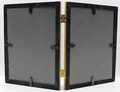 Gold Double Hinged Photo Picture Frame 4x5 4x6 5x7 8x10 New Wood