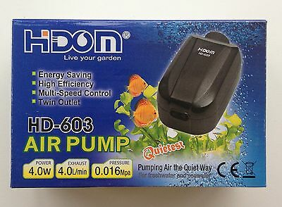Aquarium Air Pump for Fish tank with Adjustable Dual Valve Outlet HD-603 4