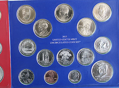 2013 ANNUAL US Mint Uncirculated Coin Set 28 P and D Minted Coins with COA 6