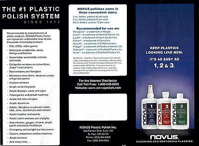 Novus 1,2,3 Plastic Polish System, 3x 2oz, Kunststoff Politur 2
