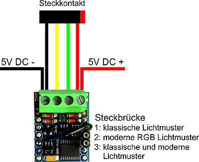 "LED Lauflichtsteuerung LEDCONTROL 5 Kanäle für Kirmes Modelle /""Kirmes3/"""