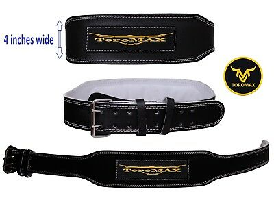 "TOROMAX Gym Weight Lifting Belt 4, 6"" Leather Lumbar Back Support Power Training"