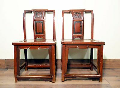 Antique Chinese Ming Chairs (5435) (Pair), Zelkova Wood, Circa 1800-1949 2