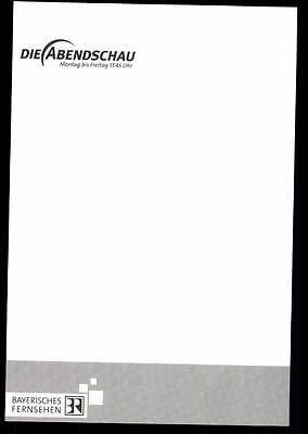 Renate Herzberg Die Abendschau Autogrammkarte Original Signiert ## BC 23212