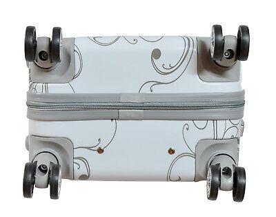 Maleta pequeña para cabina rígida fantasia mariposa blanca 4 ruedas dobles 360º 5