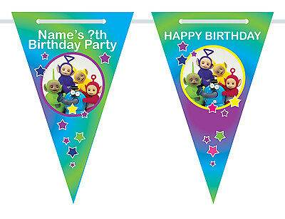 name//age Personalised Go Jetters Birthday Bunting 3m-15 pendants