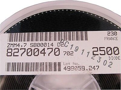 2500 Stück -  ZMM4,7 -  500mW 4,7V Zenerdiode VISHAY - SOD80 MiniMELF