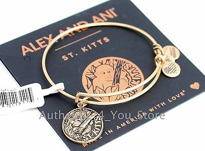 New Alex And Ani St Kitts Exclusive Gold Vervet Monkey Charm Bangle Bracelet