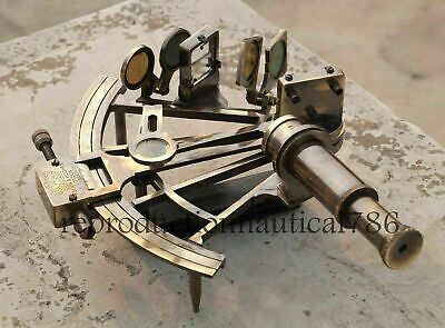 Nautical KELVIN & HUGHES Solid Brass Astrolabe Sextant Maritime Working Sextant 3