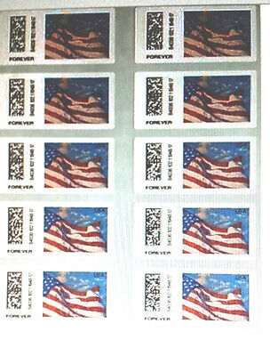 """20 USPS Forever Stamps 1 Book or 2 Strips of 10 Total 20 Stamps """"  Now """"  $9.75 2"""