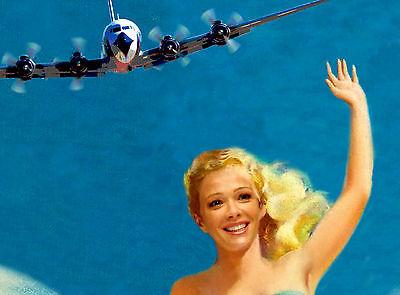 VERO BEACH Florida EASTERN Air Lines Beach Travel Poster Pin Up Art Print 052