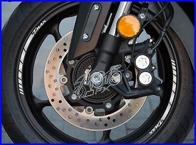 8 x YAMAHA TMAX Wheel Rim Decals Stickers - 20 colors - t max 530 500 dx scooter