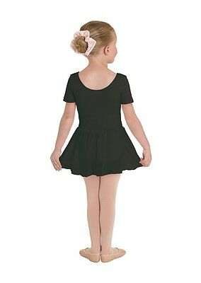 Nwt Bloch  Black Short Sleeve Ballet Dance Dress  Fully Front Lined Cl5342 2