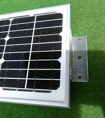 10w 10 watt solar panel + bracket kit suit camper van motorhome VW camper shed 2