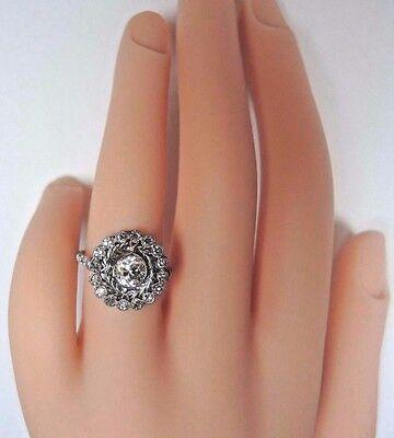 Antique Art Deco Vintage Diamond Platinum Engagement Ring Size 6.25 EGL USA Fine 7