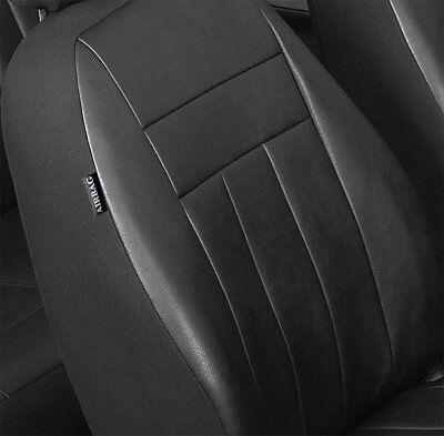 Toyota Auris II E18 Maßgefertigte Kunstleder Sitzbezüge in Schwarz