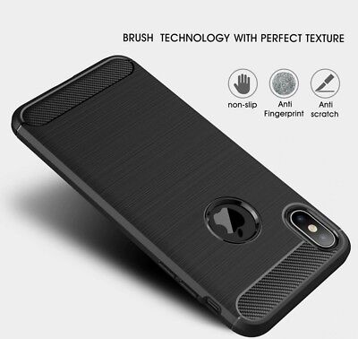 For iPhone XR X XS Max Carbon Fiber Cover Shockproof TPU Heavy Duty Soft Case 4