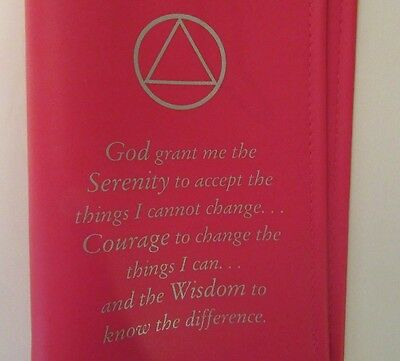 alcoholics anonymous aa big book serenity prayer symbol red cover