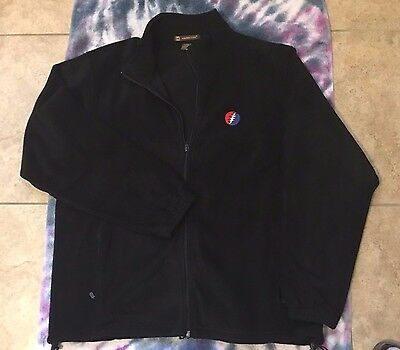 Grateful Dead Steal Your Face Embroidered Full Zipper Polyester Fleece Jacket