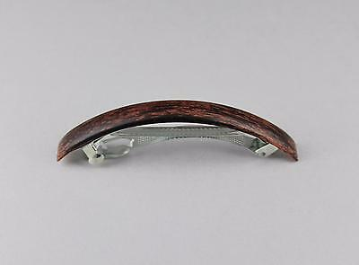 Brown barrette thin skinny narrow long plastic barrette hair clip accessory