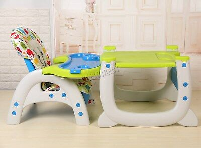 FoxHunter Baby Highchair Infant High Feeding Seat 3in1 Toddler Table Chair New 8
