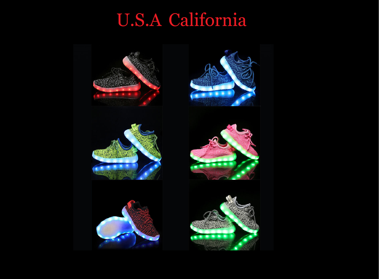 Unisex Light Up LED Shoes For Baby Toddler And Youth Kids Athletics Sneakers