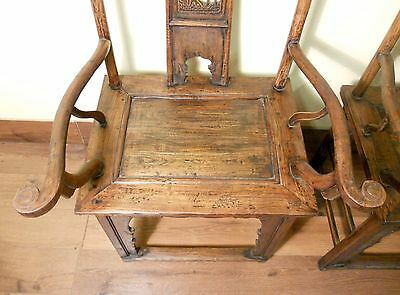 Antique Chinese High Back Arm Chairs (5511) (Pair), Circa 1800-1849 4