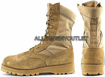 6da757f9aed US MILITARY HOT WEATHER COMBAT BOOTS Vibram Soles Desert Tan USA Made NEW