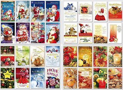 gute Auswahl an Weihnachtskarten,Glückwunschkarten mit Umschlag, Blitzversand 4