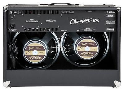 """Fender Champion 100 W Gitarren-Verstärker Combo E-Gitarre 2x12/"""" Speaker Amp Neu"""