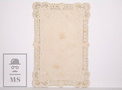 Antique Paper Lace Holy Card - Immaculate Heart of Mary - Circa 1910 2