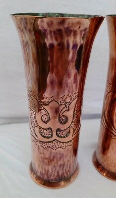 Arts & Crafts pair of Copper vases - believed to be Keswick KSIA 2